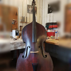 Beautiful double bass Joseph Pillement 4 strings (1788-1863) fully restored, pic 1