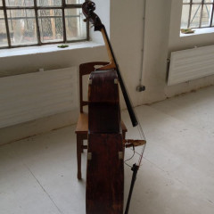 Bohemian Double Bass, ca. 1890. Very warm and dark sound., pic 3