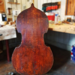 Beautiful double bass Joseph Pillement 4 strings (1788-1863) fully restored, pic 2