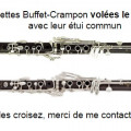 2 Buffet-Crampon clarinets Tosca (in A) and Prestige (in Bb)
