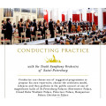 Conducting practice with orchestra