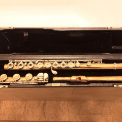 "Brannen Brothers ""Brögger Flute"" in 14K Gold with Silver Keys, pic 1"