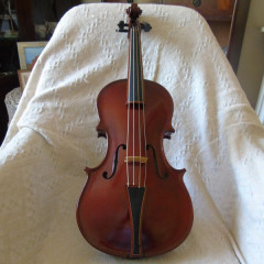 16 1/4 Baroque viola by George Stoppani, Manchester 1986, pic 1