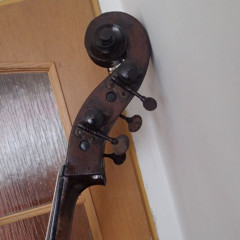 GERMAN BASS apparently made in MITTENWALD  GERMANY cca 1880, pic 3