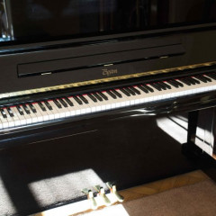 Boston Steinway UP132 II upright piano in gloss black, pic 2