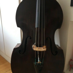Beautiful 19th Century Viennese Bass for Sale in London. Includes softcase and Fishman FC Pick-up, pic 1