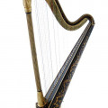 Historical Sinhle-action Harp, made by Jacob Erat, 1806
