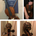 Lion Head 7/8th violin (German) and two bows