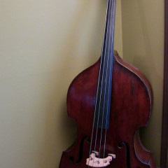 German Carved Roundback Upright Double Bass With Flight Case, pic 1