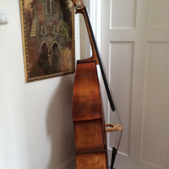 5 string violin cornered Luthier made double bass, pic 3