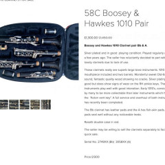 Boosey and Hawkes 1010 Clarinet pair Bb & A., pic 2
