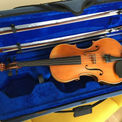 "Good 2018 16"" viola, case and two bows, pic 1"