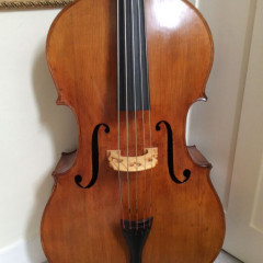 5 string violin cornered Luthier made double bass, pic 1