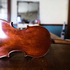 French Mirecourt Violin from the Thibouville-lamy workshop labelled 'Medino Fino' Circa 1900, pic 3