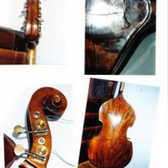 about 100 years old double bass stolen in Prague, pic 2
