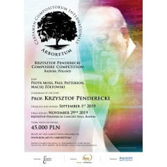 Krzysztof Penderecki Composers' Competition ARBORETUM 2019