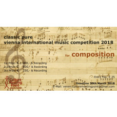 Classic Pure Vienna Composition Competition 2018