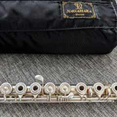 Nagahara, Full Concert Sterling Silver professional flute!, pic 1