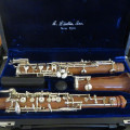 Two Laubin Rosewood Oboes and One Loree 125 For Sale