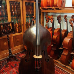 Early 19th Century 3/4 German Flatback Double Bass, pic 1