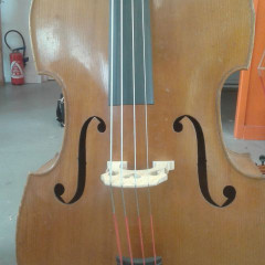 Old german double bass/Contrebasse allemande ancienne, pic 1