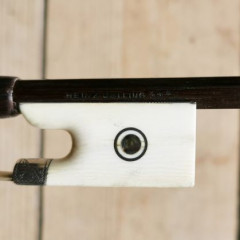 rare and exceptional violin/viola bow H.DOELLING with ivory frog and silver engravements, pic 3