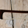 rare and exceptional violin/viola bow H.DOELLING with ivory frog and silver engravements