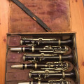 "Unique set of three ""I.T.Uhlmann, Wien"" clarinets in A, Bb and C   Approximately 1830-40"