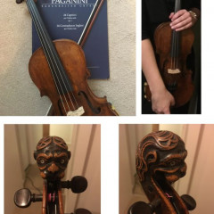 Lion Head 7/8th violin (German) and two bows, pic 1
