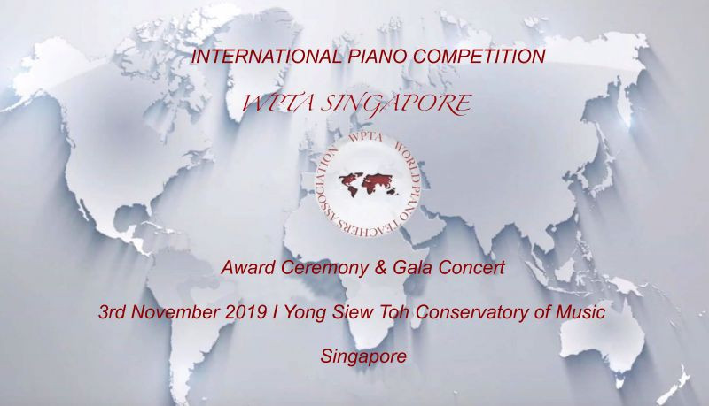 Competition: WPTA Singapore International Piano Competition