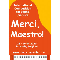 """Merci,Maestro!"" International  Competition  for young pianists"
