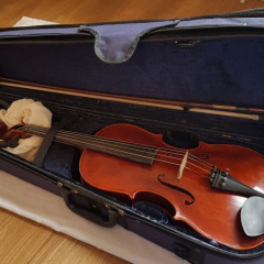 Good quality modern handmade Chinese viola with bow & case, pic 2