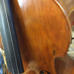 Double bass, of German origin estimated to be 1890's, 3/4 size solid wood,, pic 3