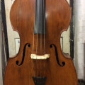 Double bass, of German origin estimated to be 1890's, 3/4 size solid wood,