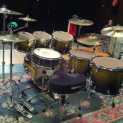 PDP X7 SERIES 5 PC. DRUMSET GOLD TO BLACK SPARKLE FADE, pic 2