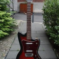 Danelectro 1967 Coral Hornet 1458 Mark Knopfler model in case