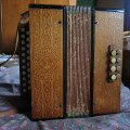Hohner C/F melodeon, pressed wood