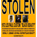 "Stolen 1972 Gibson Les Paul ""Black Beauty"""