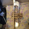 Taylor Chicago Custom trumpet raw brass, unlacquered serial number 917